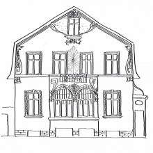 1-Stechlinstra+ƒe-Fassadenentwurf-Handzeichnung